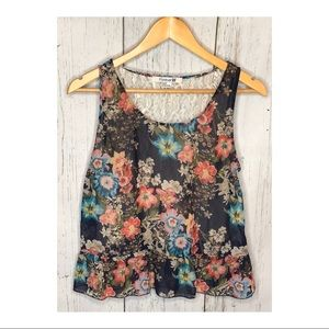 Flower Lace Back Flounce Tank Top Forever 21